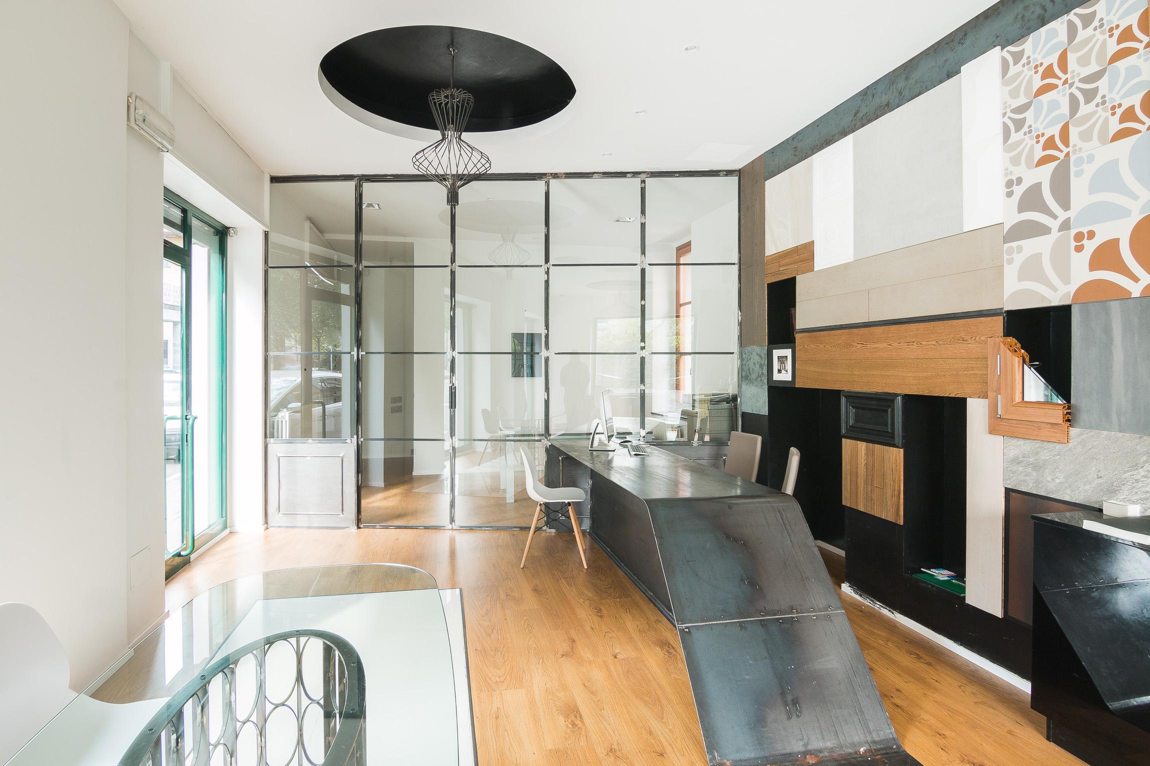 Parete Ferro E Vetro parete vetrata showroom | ferro&vetrolab