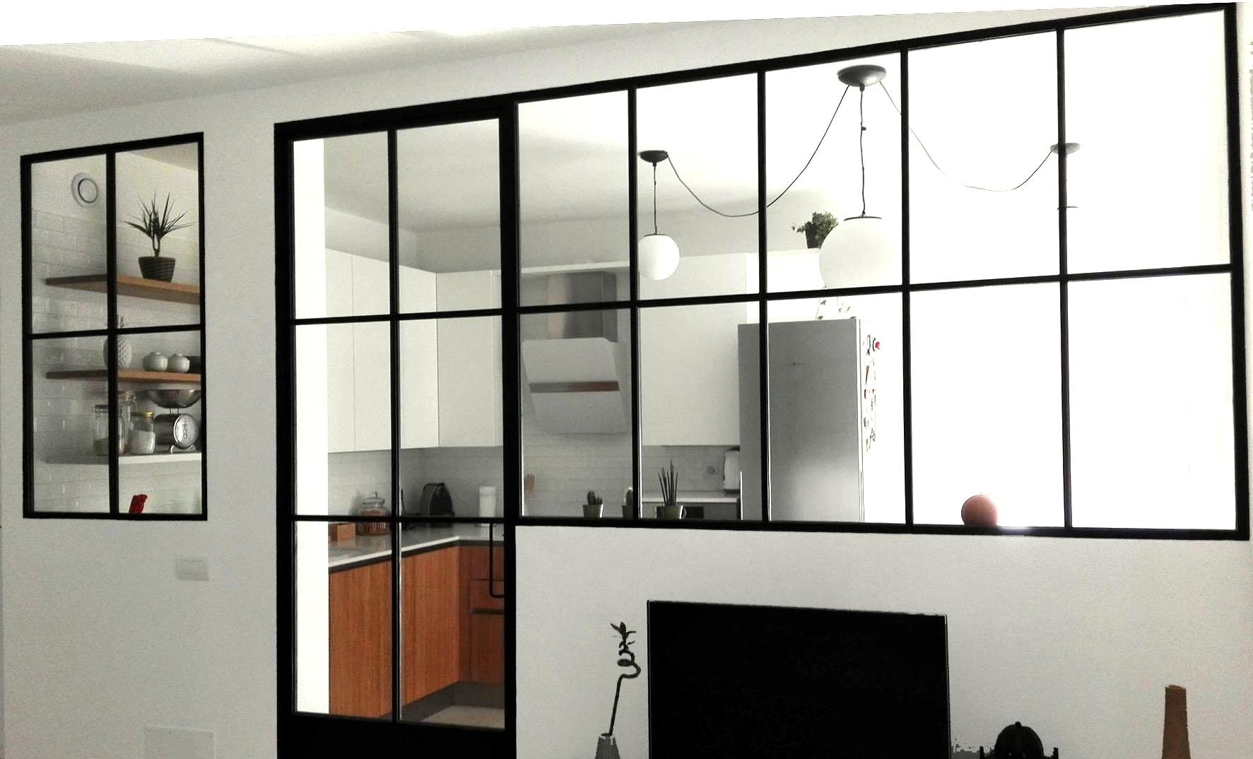 Parete vetrata elegant parete divisoria scorrevole in vetro colore bianco latte with parete - Parete vetrata esterna ...