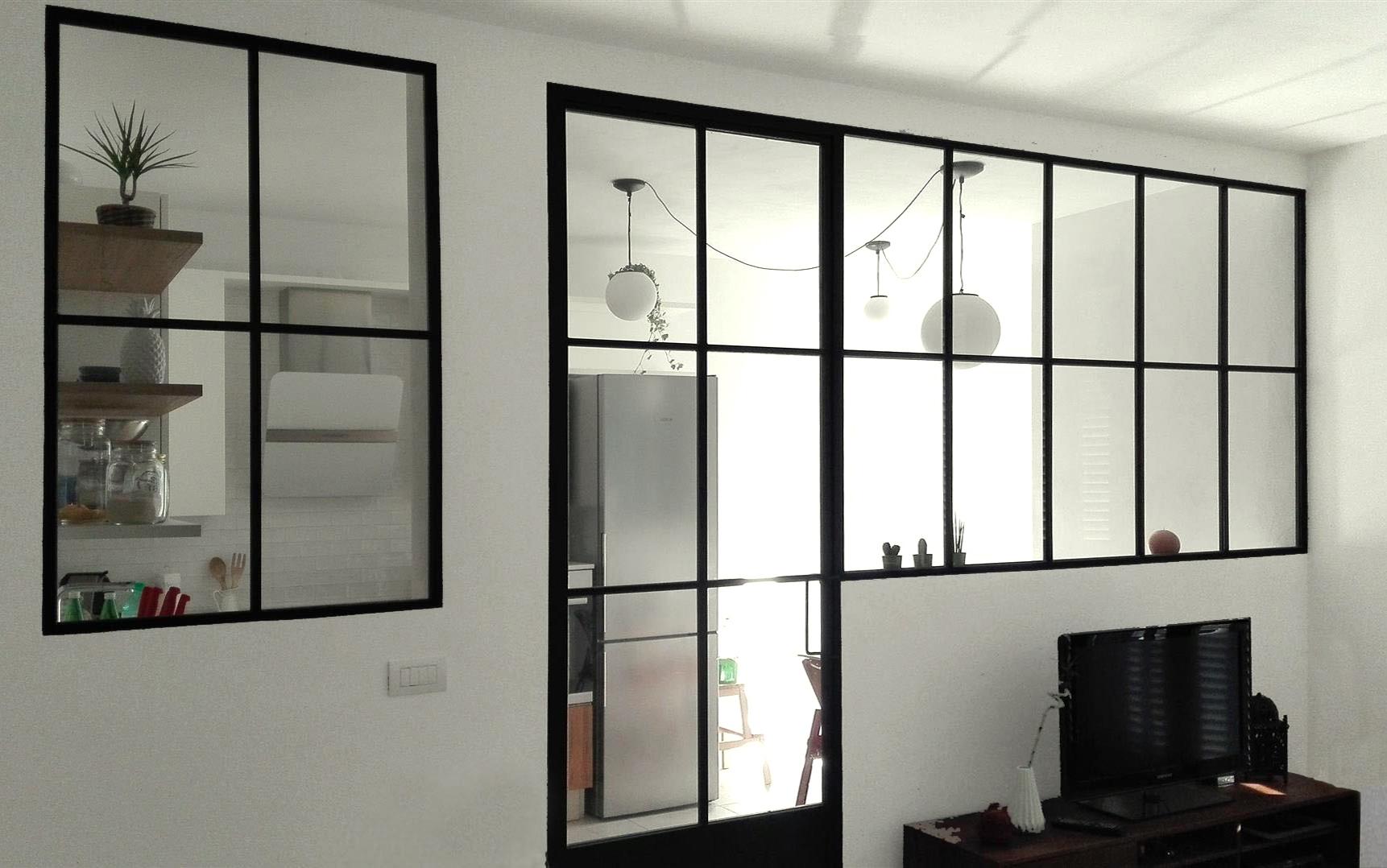Parete vetrata casa pp ferro vetrolab - Parete vetro cucina ...