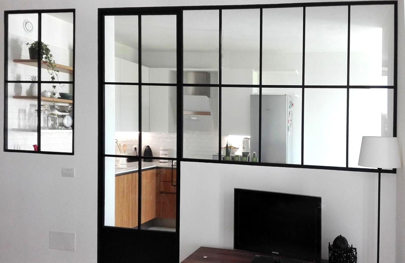 Parete vetrata casa pp ferro vetrolab - Parete in vetro prezzi ...